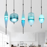 Blue chromatography Italian designer lamp pendant light Lake of Venice Blue gradient Simple Peaceful Pure glass pendant lamp