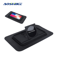 AOSHIKE Car Wireless Charger QI 10W 7.5W 5W For iPhone 11 Pro XS Max Samsung S10