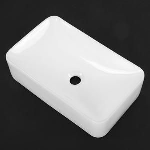 Image 1 - Modern Rectangular Shape Bathroom Sink High grade White Ceramic Cloakroom Hand Wash Basin