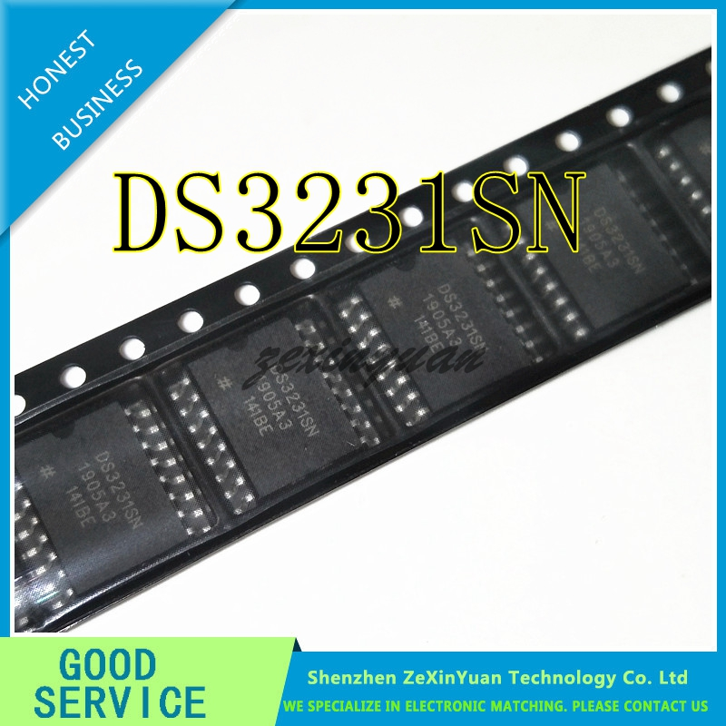 10PCS/LOT DS3231SN DS3231N DS3231S SOP EXTREMELY ACCURATE I2C-INTEGRATED RTC/TXO/CRYSTAL REAL-TIME CLOCK MODULE