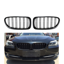 2 Pcs Glossy Black F10 5 Series Racing Grills For BMW F18 Front Kidney Grill For BMW 5 Series 2010-2015 528i 530i 535i цена и фото