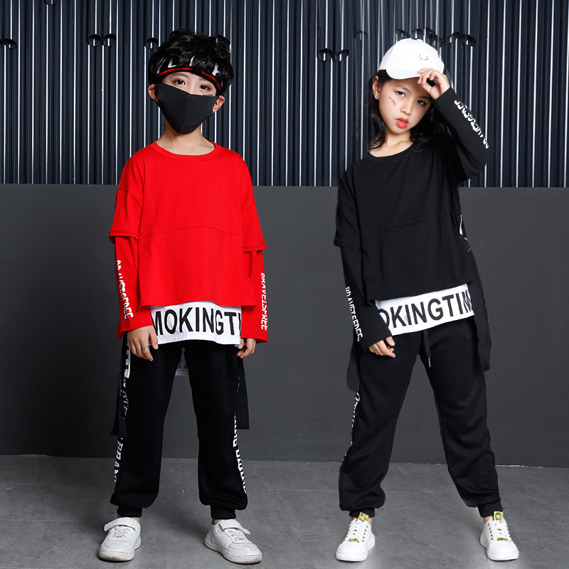 Kids Ballroom Dancing Costume Clothes Wear Casual Shirt Sweatshirt Tops Pants Hip Hop Clothing For Girls Boys Jazz Dance Costume