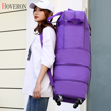 Travel-Bag Luggage-Wheel Air-Transport Mobile-Bags Abroad Collapsible Universal