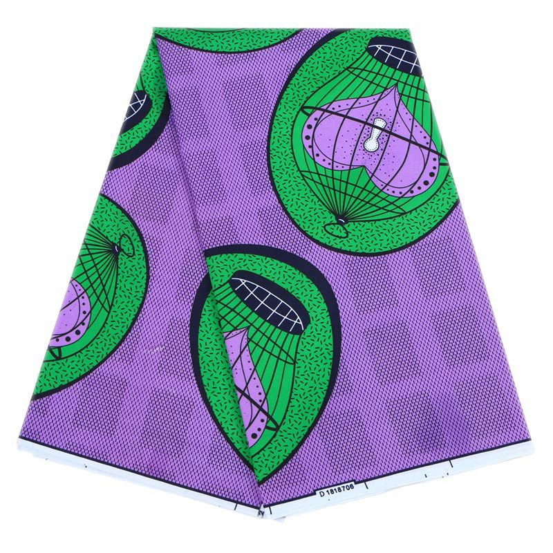 Wax-Fabric Hollandais Green African Purple Heart-Lock Color-Cage Sunbelt Fashion-Design