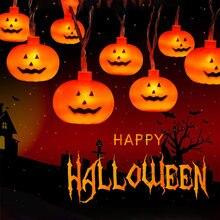 Светодиодный Фонари праздника Хэллоуин светильник s строка ручной