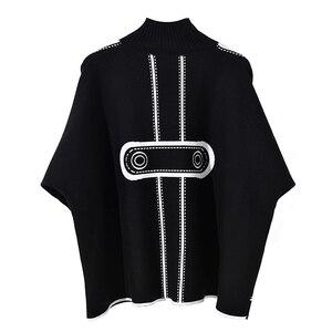 Image 3 - Женский Хлопковый вязаный свитер, повседневный Свободный пуловер большого размера плюс с рисунком на осень и зиму, 2019