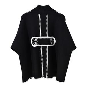 Image 3 - Dzianiny bawełniane plus rozmiar wzór przyczynowe luźne ponadgabarytowych jesień zimowy swetr pullover kobiety swetry ubrania 2019