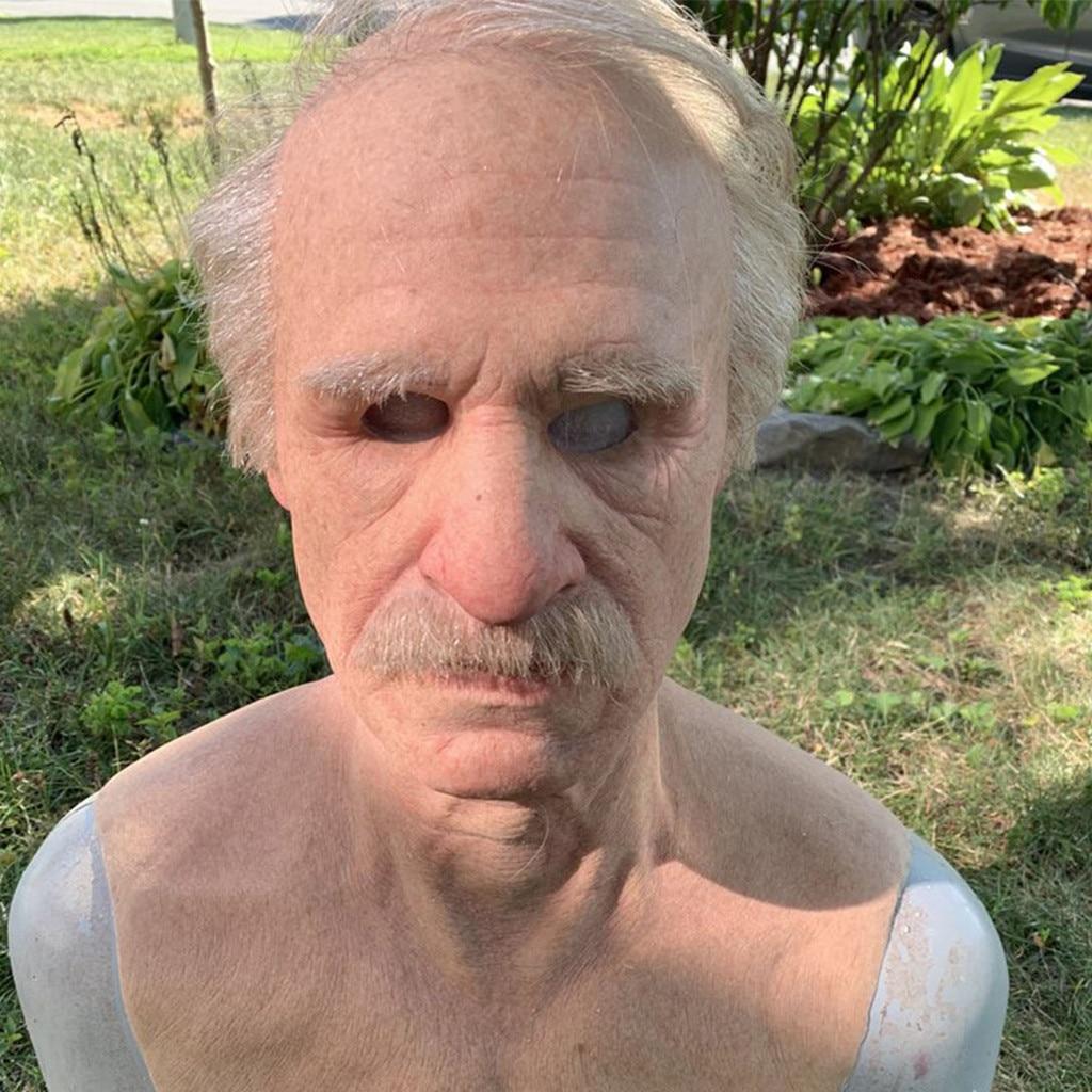 Другой я-старший Хэллоуин Смешной косплей реквизит маски супермягкая маска для взрослых пожилых людей Крышка для лица жуткая вечевечерние ...