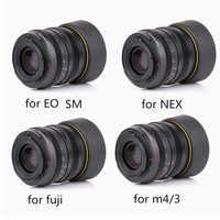 Kamlan-lente de enfoque Manual de gran apertura, lente de 50mm F1.1 APS-C para cámaras Canon EOS-M NEX Fuji X M4/3