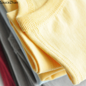 Image 3 - SauceZhan Three needle Reinforcement Mens Summer Cotton T shirt O Neck Solid T shirts for Man Thick Soft  Not Deformed