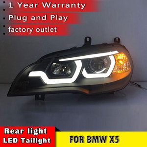 Image 2 - New Car Styling for BMW X5 e70 2007 2013 Headlight LED DRL LOW/HIGH Beam H7 HID Xenon bi xenon lens for BMW X5 Head Lamp Auto