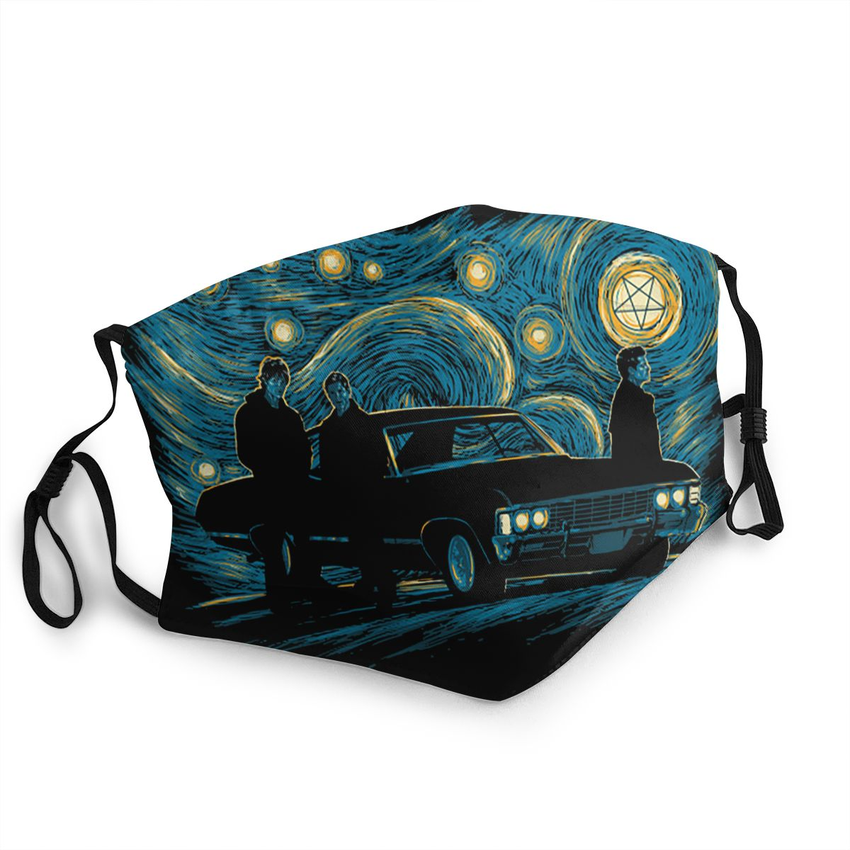 Supernatural Night Reusable Mouth Face Mask Van Gogh Starry Night Anti Haze Dust Mask Protection Mask Respirator Mouth Muffle