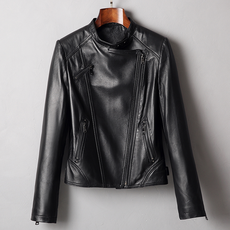 Real Genuine Leather Jacket Women Clothes 2019 Korean Women's Fur Coat Vintage Spring Autumn Sheepskin Coat Plus Size ZT2332
