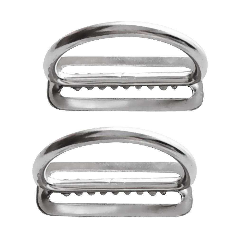 Scuba Diving Dive Stainless Steel 2 Inch Weight Belt Keeper D-Rings (2 Pack) Scuba Diving Belt D Ring Weight Belt Keeper