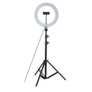 Image 4 - 26cm LED Selfie anneau lumière cercle remplir lumière photographie RingLight Dimmable lampe Trepied téléphone de bureau support de support 1.6M trépied