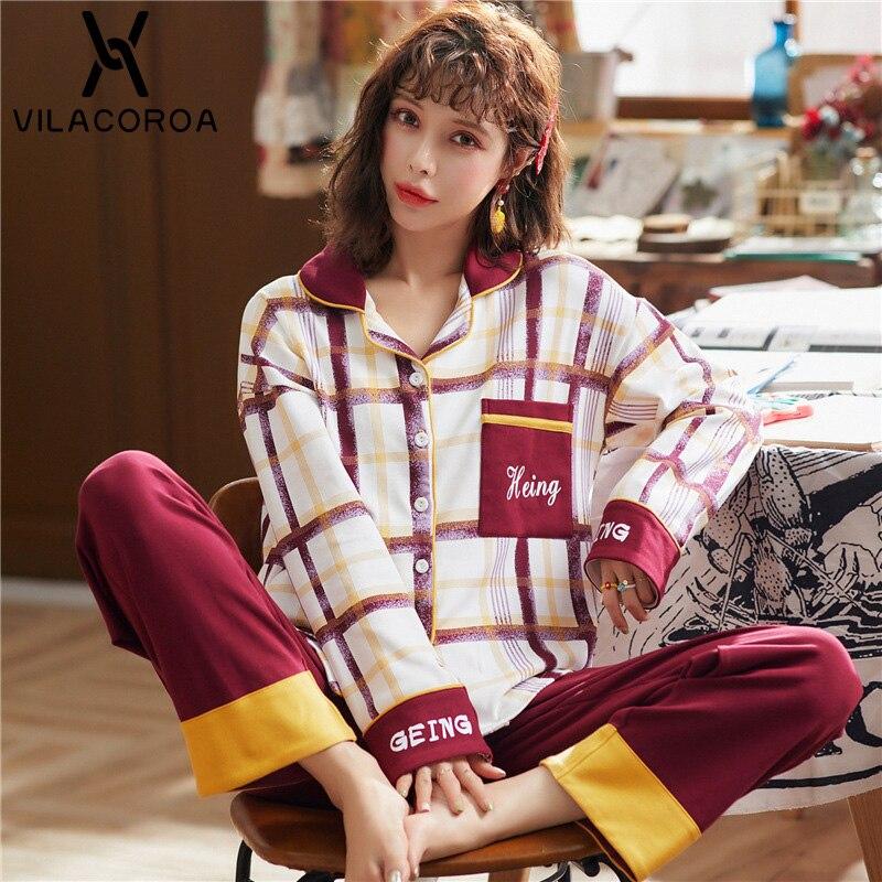Femmes h ome service costume pyjamas automne coton mignon princesse vent pyjamas ensemble épaississement dames portent des pantalons à manches longues