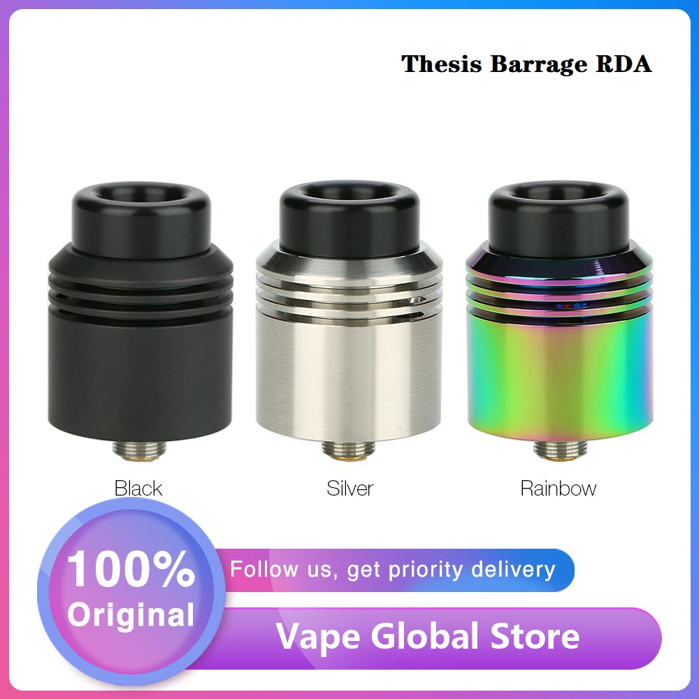 NEW Original Asmodus Thesis Barrage RDA Wi/ 2 Post For Easy Single Coil Building 24mm RDA Atomizer 510 Thread Vs Zeus X/ DROP