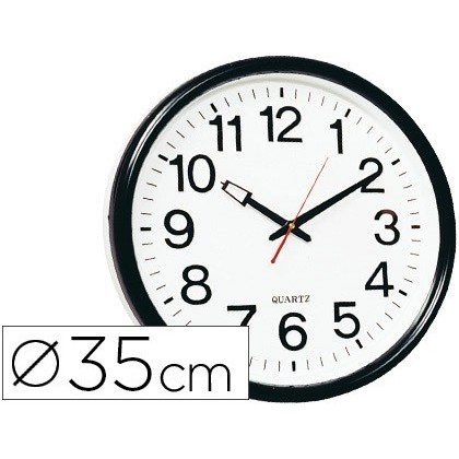 WATCH Q-CONNECT WALL PLASTIC ROUND BS-OFICINA 34 CM-MARCO BLACK