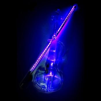 Transparen skrzypce elektryczne wysokiej jakości plastik instrumenty muzyczne kryształowe klasyczne instrumenty strunowe skrzypce z futerał na skrzypce tanie i dobre opinie MoonLady Plastic Brazil Wood Transparent Plastic Electric Violin S shape B shape