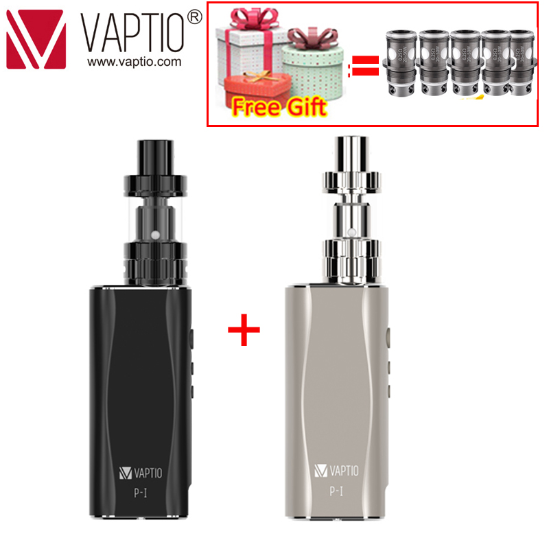 【Gift COILS】Original Vaptio P1 KIT E Cigarette Vape Pen 2100mAh Built In Box Mod Vape 2.0ML/3.0ML Atomizer E Vape Kit