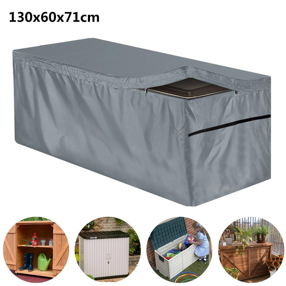 2 pack garden deck box cover waterproof