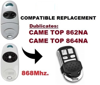 duplicator CAM TOP 862NA  TOP 864NA  TOP 862EV TOP 864EV compatible remote control, 868,3MHz CLONE, Duplicator top kapalua top