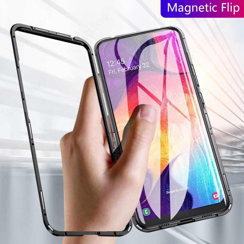 Magnetic Case for Samsung Galaxy <font><b>A50</b></font> Case for Samsung A20 A30 M20 A7 A9 2018 J4 Plus J6 J8 <font><b>sansung</b></font> A 50 30 Fundas Cover Coque image