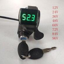 12V 24V 36V 48V 60V 72V Electric Bike Thumb Throttle with key lock LCD Display gas for electric bicycle/scooter/e-bike цены онлайн