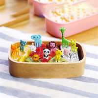 TTLIFE 10pcs Animal Farm Fruit Fork Mini Cartoon Children Snack Cake Dessert Food Fruit Pick Toothpick Bento Lunches Party Decor