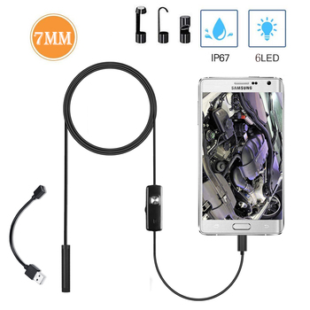 7mm Wireless Endoscope IP67 Waterproof USB General Borescope Inspection HD Snake Camera for Android iOS Samsung Tablet 5 5 7 8mm lens usb endoscope camera ip67 waterproof snake camera inspection borescope for windows