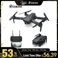 Eachine E520 WIFI FPV avec caméra grand Angle 4 K/1080 P HD Mode de maintien élevé Drone pliable RC quadrirotor RTF RC Dron(China)