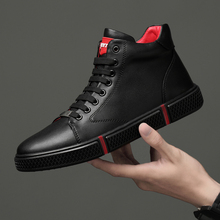 Casual men ankle Boots Genuine Leather Men Shoes Fashion Mal