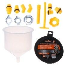 15 pçs plástico funil de enchimento bico despeje óleo ferramenta à prova derramamento líquido refrigerante enchimento kit