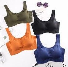 Seamless Active Bras for Women Comfort Vest Tops Wireless Bra with Pads Sleeping Underwear Female#40