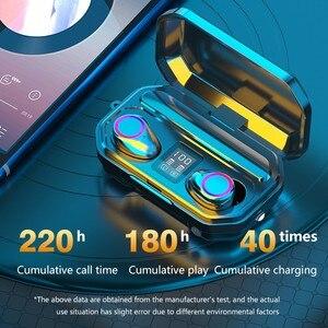 Image 4 - 3500 мАч Bluetooth наушники беспроводные наушники с сенсорным управлением светодиодный микрофон спортивная водонепроницаемая гарнитура наушники