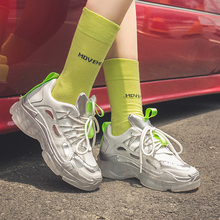 Silver Sneakers Women Transparent Vulcanize Shoes Fashion Chunky Sneakers Yellow Sneaker Brand Platform dames Sneakers 2019 silver chunky sneakers women brand glitter sneakers women 2019 new women shoes sneakers dames black sneaker winter autumn women