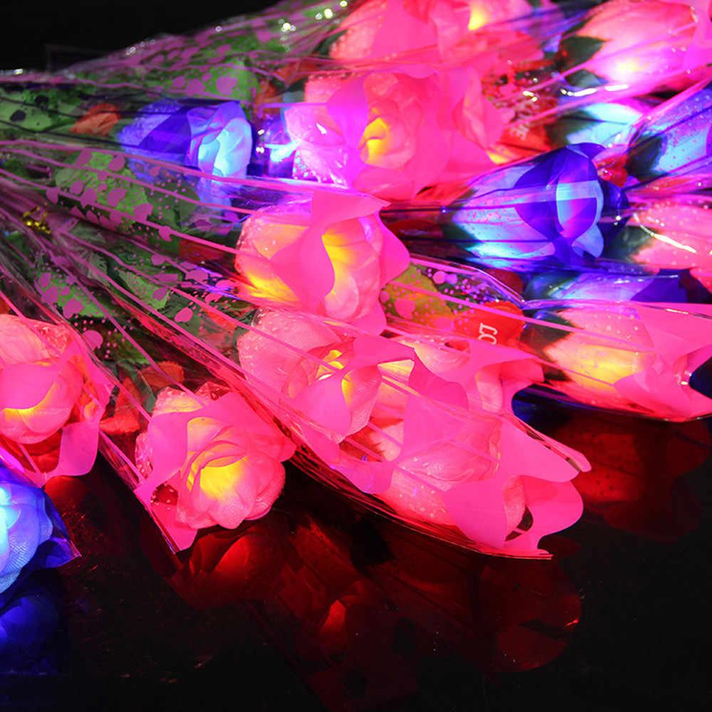 Giocattoli per bambini Per I Bambini Luce di Notte del Giocattolo LED Lampeggiante Glow In The Dark Stars Simulazione Romantico Fiore della Rosa Nuovo Anno giocattoli per bambini Giocattoli