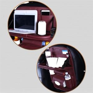 Image 5 - Car Back Seat Storage Bag Water Bottle Magazine Food Phone Automobile Organizer Cars Backseat Multi Pocket Holder