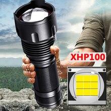 Xhp100 9 코어 고품질 Led 손전등 18650 26650 AA 배터리 토치 XHP50 XM-L2 U3 T6 Zoomable 알루미늄 합금 랜턴