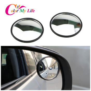 Car Rear View Convex Mirror Stickers for Peugeot 206 207 307 308 3008 2008 408 508 4008 For Citroen Fiat Punto 500 Cult Bravo image