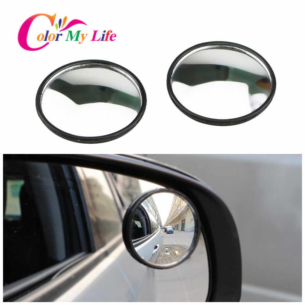 รถด้านหลังดูกระจกนูนสติกเกอร์สำหรับ Peugeot 206 207 307 308 3008 2008 408 508 4008 สำหรับ Citroen Fiat punto 500 Cult Bravo
