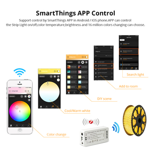 Image 3 - Zigbee 3.0 Smart Strip Light Driver RGB RGBW LED Strip Controller DC12V APP Control Compatible with Smartthings