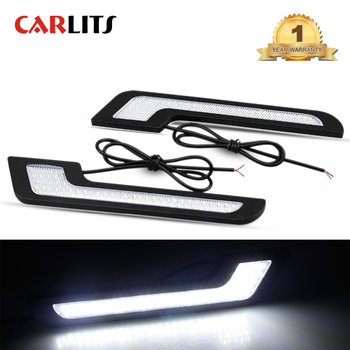 цена на CARLITS  Car LED DRL Daytime Running Lights LED Strip Auto Lamps 100% Waterproof 12V 6w Car Styling Automobile Fog Light  CJ