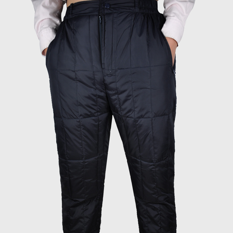 Autumn And Winter Thick Section Men Cotton-padded Trousers Anti-cold Pants Middle-aged Cotton-padded Trousers Men's High-waisted