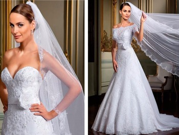 casamento sweetheart вейп мини Gowns with Wraps Belt a-line Off Shoulder Short Sleeves lace Bespoke Wedding Dresses with Jacket purple off the shoulder bell sleeves mini dresses with belt