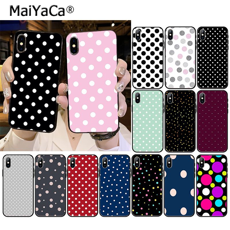 MaiYaCa Red Black Gold Polka dots Dot Phone Accessories Case for iPhone 11 Pro XS MAX XS XR 8 7 6 Plus 5 5S SE