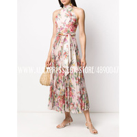 Women's high quality Summer Dress Bohemia Print Daily Casual Sleeveless Retro Round Neck Long Dress Beach Vacation Dress