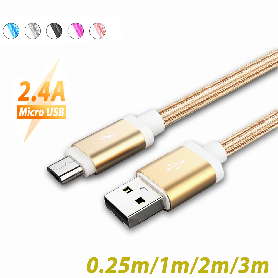 <font><b>0.25</b></font>/1/2/3M Micro <font><b>USB</b></font> Cable Fast Charging For Samsung Tablet Android Phone Type C Cable For HuaweiP40 P30 Pro Xiaomi <font><b>USB</b></font> C Cable image