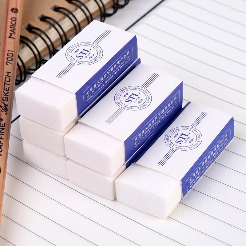 1Piece Soft Rubber 4B Pencil Eraser For Art Sketch Painting Office School Students Nursery Gift Art Supplies