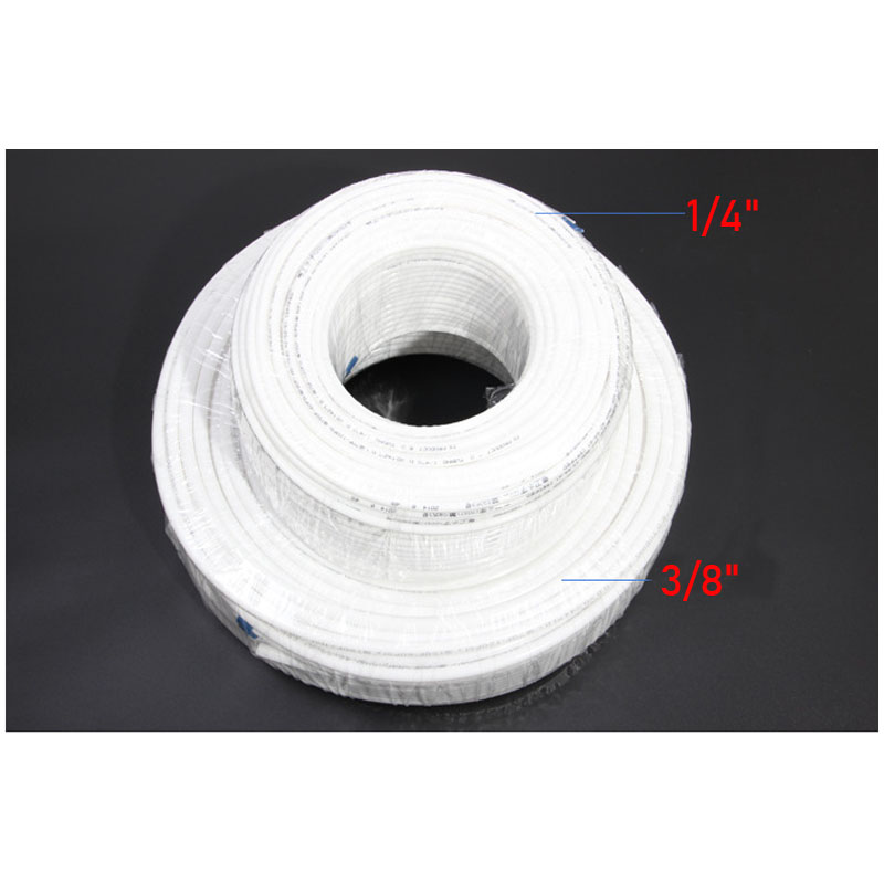 """1 Meter RO Water 1/4"""" 3/8"""" Inch OD PE Hose Tubing White Flexible Pipe Tube For Reverse"""